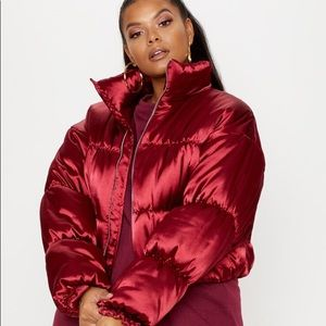 PRETTY LITTLE THINGS Satin Puffer